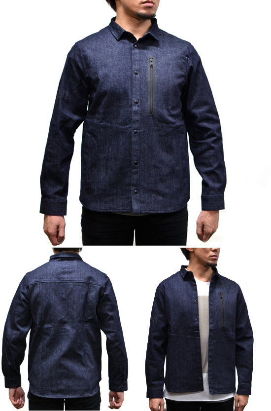 de wallen  WATER REPELLENT DENIM WORKSHIRT 着用例